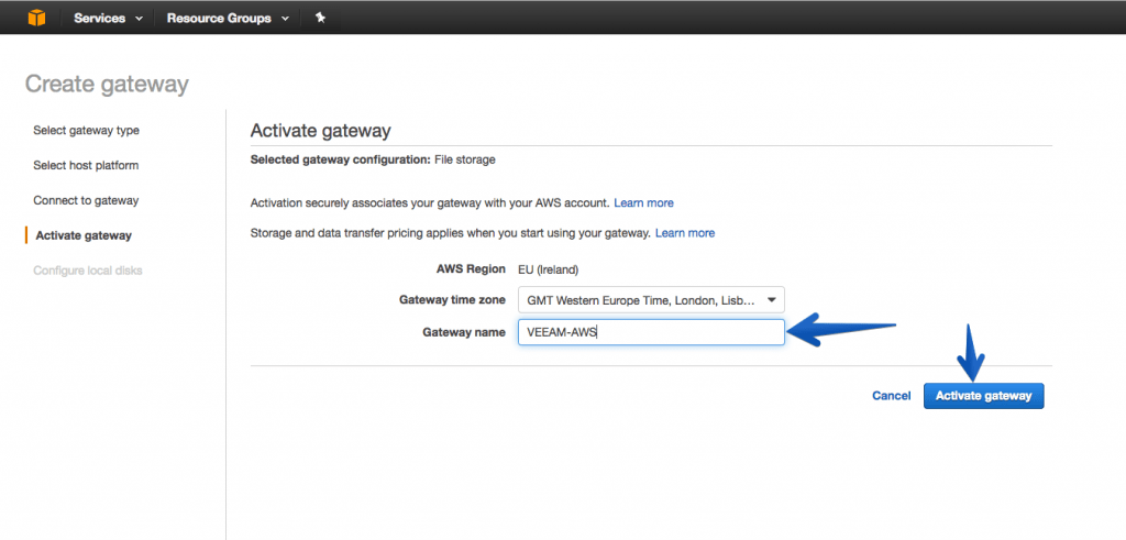 Veeam: Integration of AWS Storage Gateway with Veeam