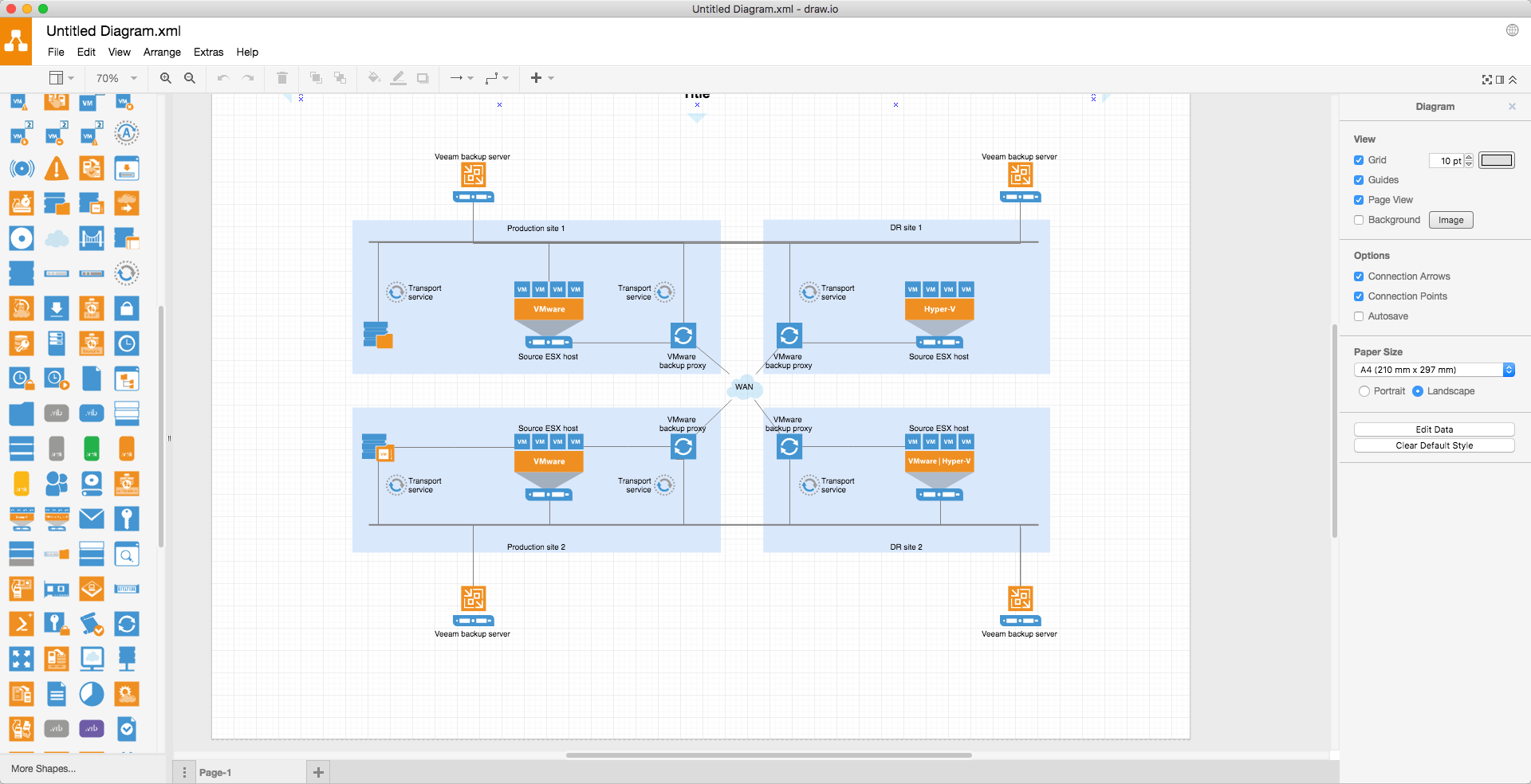 Draw io the best technical drawing tool free and online has now a diagram of an amazon web services infrastructure ccuart Gallery