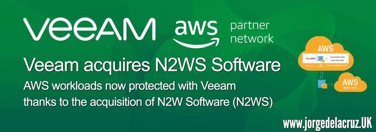 Veeam: AWS workloads now protected thanks to the Veeam's acquisition